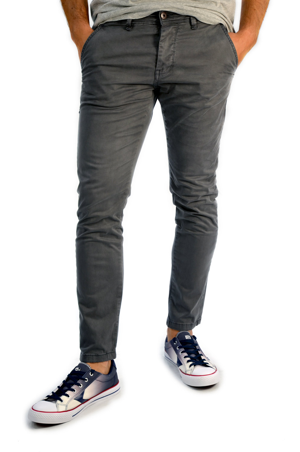 PANTALON CHINO YES ZEE CO. GRIS