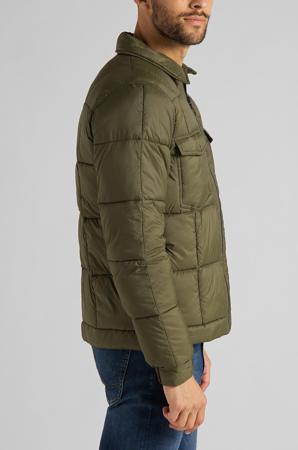 CAZADORA LEE CHEPOTA PUFFER OLIVE  GREEN