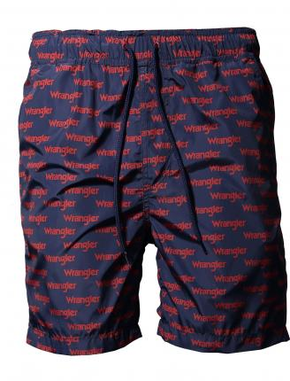 BAÑADOR WRANGLER SWIM SHORT SCARLET RED - Ver os detalles do produto