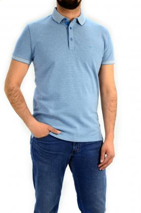 CAMISERO WRANGLER REFINED POLO RIVEIRA BLUE - Ver os detalles do produto