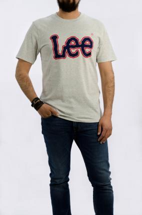 CAMISETA LEE LOGO TEE SHARP GREY MELE - Ver los detalles del producto