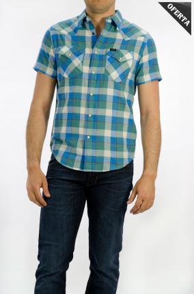 CAMISA LEE SS WESTERN FADED GREEN - Ver os detalles do produto