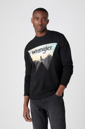 SUDADERA WRANGLER EXPLORER SWEAT BLACK - Ver los detalles del producto