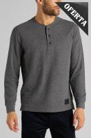 Ver los detalles de  CAMISETA LEE DOUBLE FACE HENLEY DARK GREY M