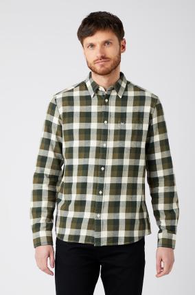 Camisa Wrangler Pkt Shirt Ivy Green - Ver los detalles del producto